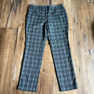 Vince Camuto Gray Checker Cropped Pants Size 6